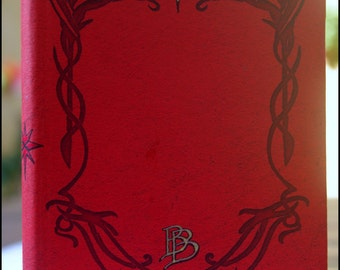 The Hobbit, The Red Book of Westmarch Fanmade Handmade [A6 Dimension - Blank Pages]