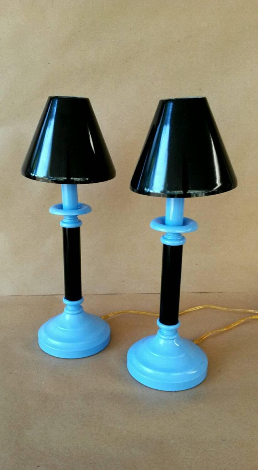 Bedside Lamps Nightstand Lamp Small Reading Light Blue Amp Black