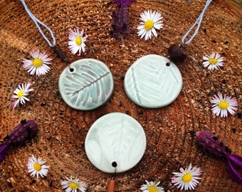 Redwood Forest Inspired Ceramic Pendant Necklace
