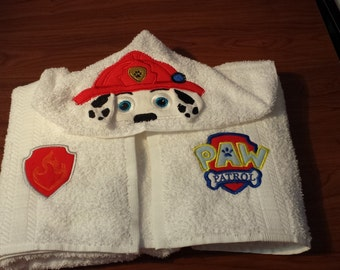 Paw Patrol Marshall Hooded Towel