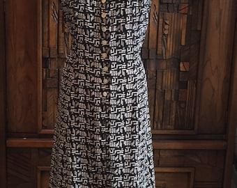 Womens Vintage Rayon Dress