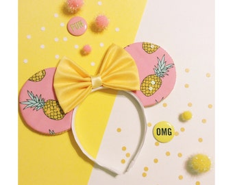 Pink Pineapple Mouse Ears