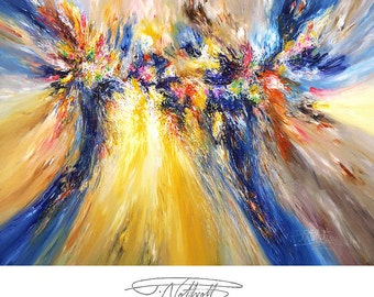 """106.3 """" x 78.7 """" Large Abstract Painting on canvas, XXL, original acrylics handmade painting, UNSTRETCHED! Artist Peter Nottrott."""