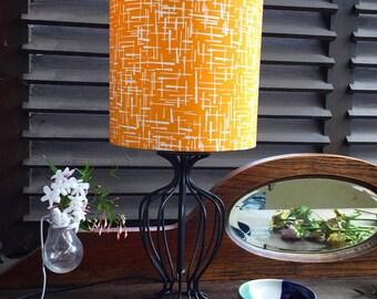 Handmade 20cm drum lampshade in Michael Miller's Retro Madrona Road fabric