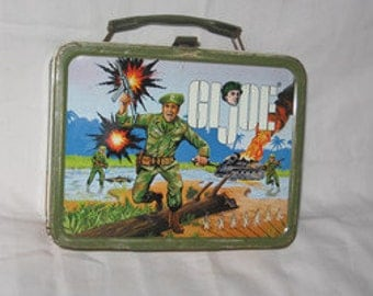 vintage 1967 thermos king-seeley g.i. joe metal lunchbox