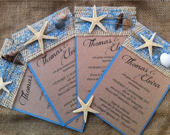 Sea theme invitations-10 model TITANIA