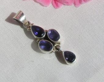 Iolite pendant in 925 silver