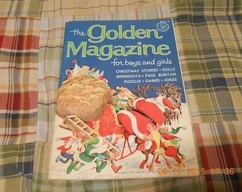 the Golden magazine for boys and girls,December 1966,vol.3#12.Vintage