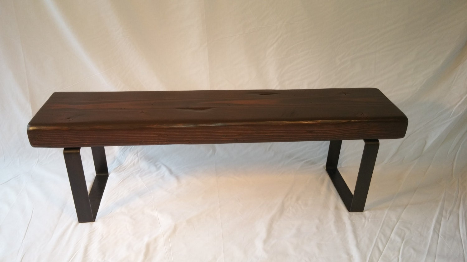 Foyer Bench Sale : Sale rustic industrial entryway bench by ironlandon