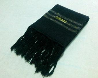 Adidas Acrylic Scarf Neck Wrap Black Muffler