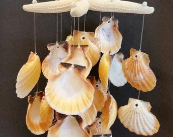 Starfish and Sea Shell Wind Chime, Starfish Wind Chime