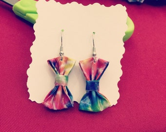 Duct Tape Bow Earrings