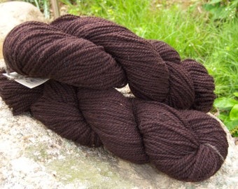 Chocolate Brown - DK weight-Border Leicester yarn-100% wool