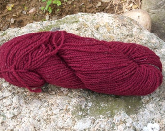 Maroon- DK weight- Border Leicester yarn- 100% wool