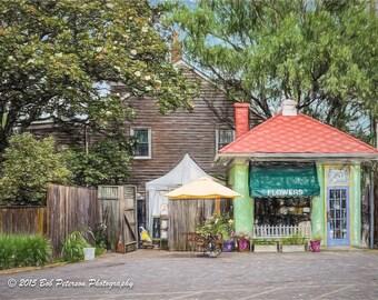 Annapolis Flower Shop Digital Painting