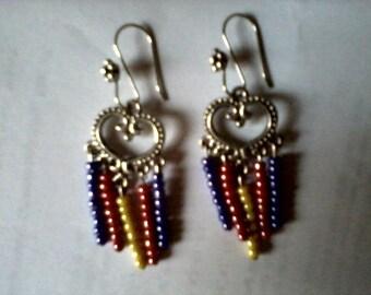 Handmade Beaded Chandelier Earrings
