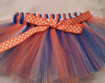 Orange White and Royal blue dog tutu, Orange White and Blue Dog Tutu, puppy tutu, dog tutu, orange white blue dog tutu, orange blue dog tutu