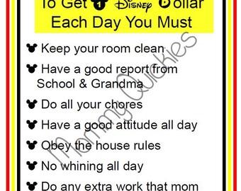 Disney Dollars Rules