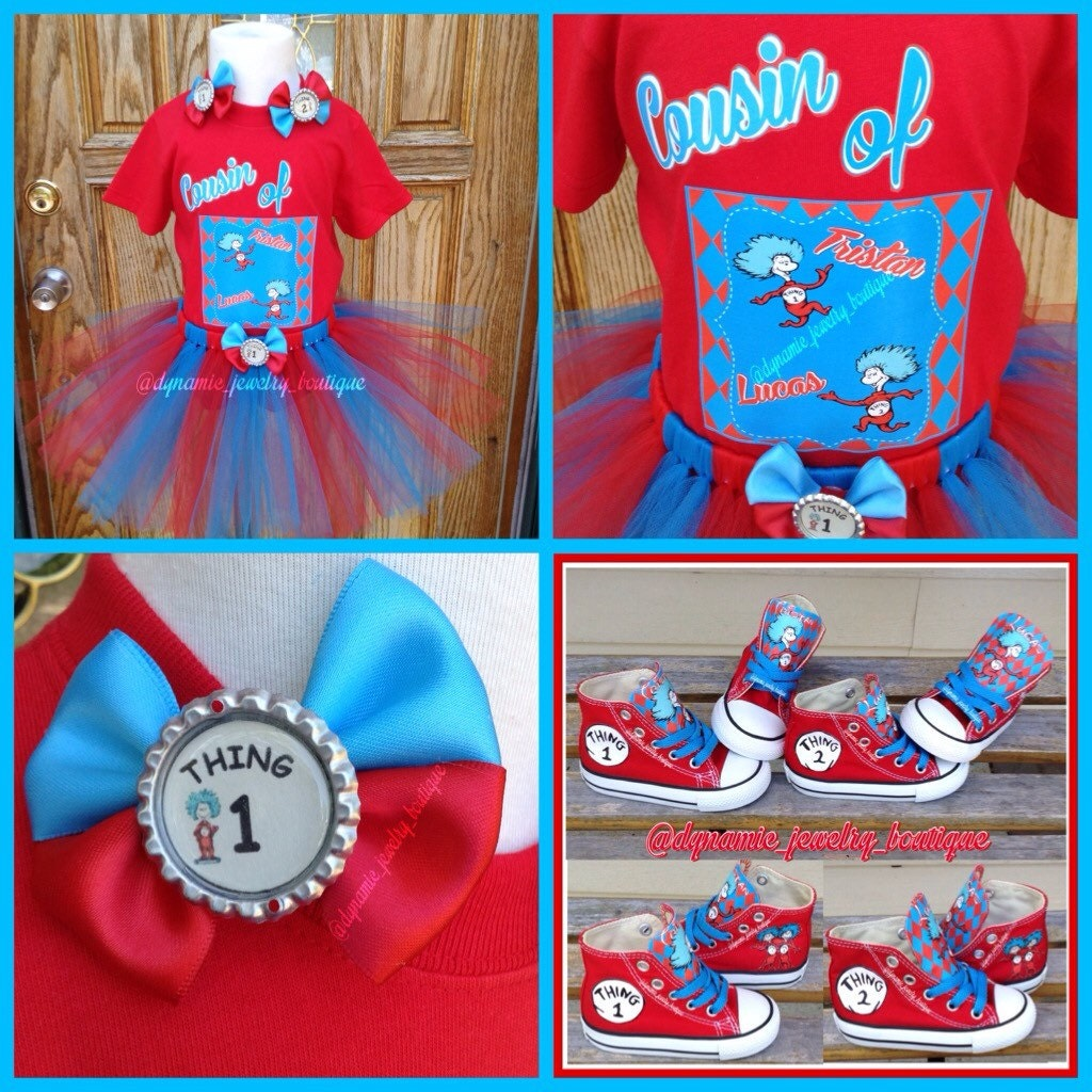 Thing 1 Thing 2 Tutu Set Dr Suess Tutu Custom Thing Tutu