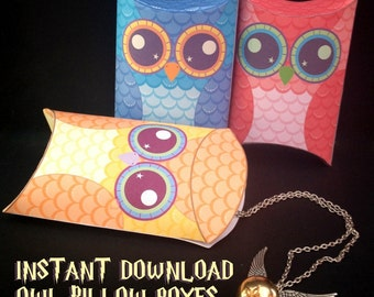 Pokemon inspired pillow boxes instant download printable happy owl pillow boxes instant download printable gift box party favor harry pronofoot35fo Image collections