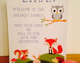 Personalised Adoption Card