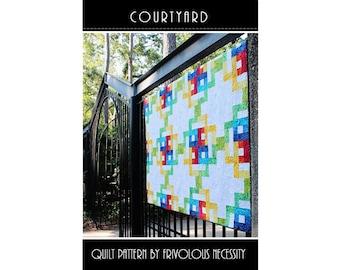 Pattern - Courtyard Quilt Pattern by Frivolous Necessity