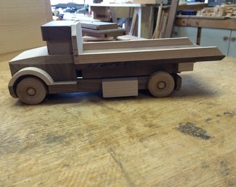 Handcrafted Toy Rollback Trucks