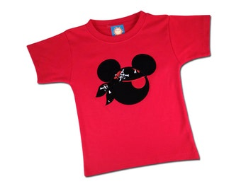 Boy Mouse Pirate Shirt with Embroidered Name