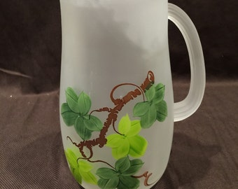 HA Pitcher in the Crystal Mist Grape Ivy pattern.