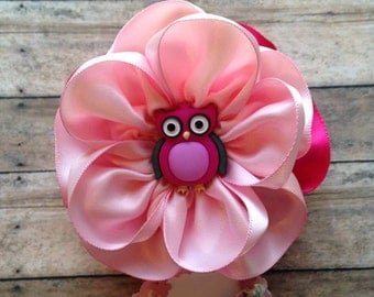 Owl Baby Shower Mommy To Be Corsage Pink & Hot Pink Baby Shower Corsage Owl Theme Mom To Be Corsage It's a Girl Baby Shower Corsage