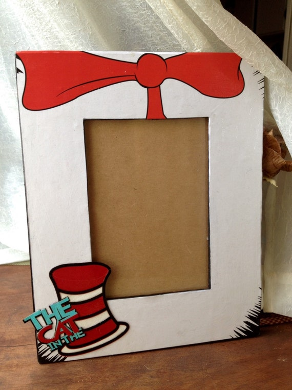 The Cat In The Hat Picture Frame Kids Room Decor School