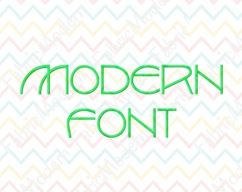 MODERN EMBROIDERY FONT Design, two sizes, 1.5 inch and 2 inch alphabet, #476