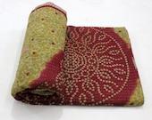 Vintage Throw Kantha Quilt Indian Handmade Bedspread Blanket Bedding Bohemian Suzani Quilt Cotton Duvet Comforter E192