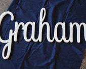 OVERSIZED Graham Baby Name Letters, Nursery Decor, Baby Name Art, Baby Girl, Name Sign, Name Wall Decal, Wood Wall Art, Wood Signs, Large