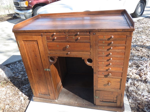 Items Similar To Antique Watchmakers Desk Cabinet On Etsy