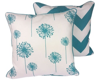 Turquoise Dandelion Indoor Cushion Cover - 45 x 45cm