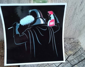 Darth Vader Star Wars inspired vinyl decal for Mac, car, phone.