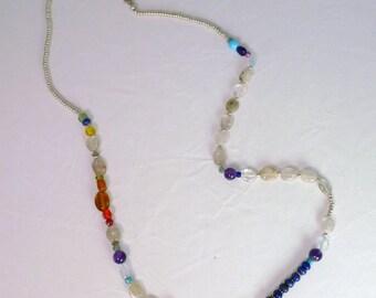 Sparkling Rainbow Beaded Necklace