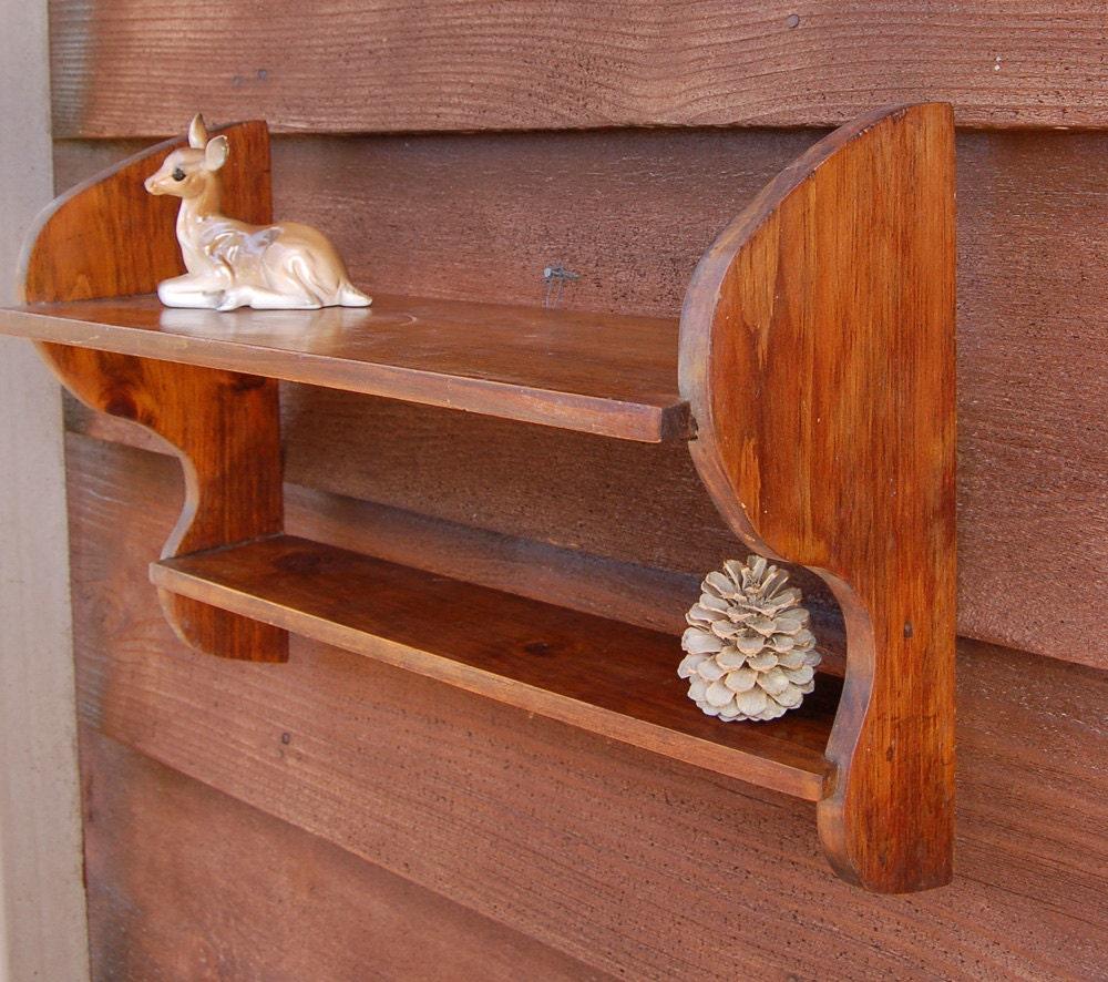 Vintage Wood Wall Shelf Wooden Display Shelf