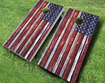 Country Rustic American Flag Boards
