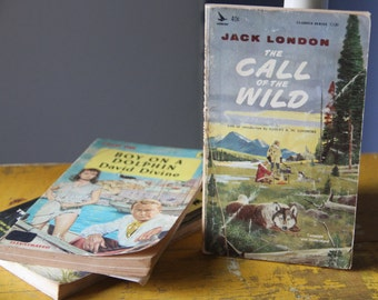 A striking 1964 Airmont Classic Series paperback edition of Jack London's  classic Call of the Wild