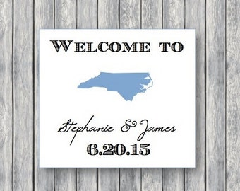 Customized State Tags for Welcome Bags, Favors