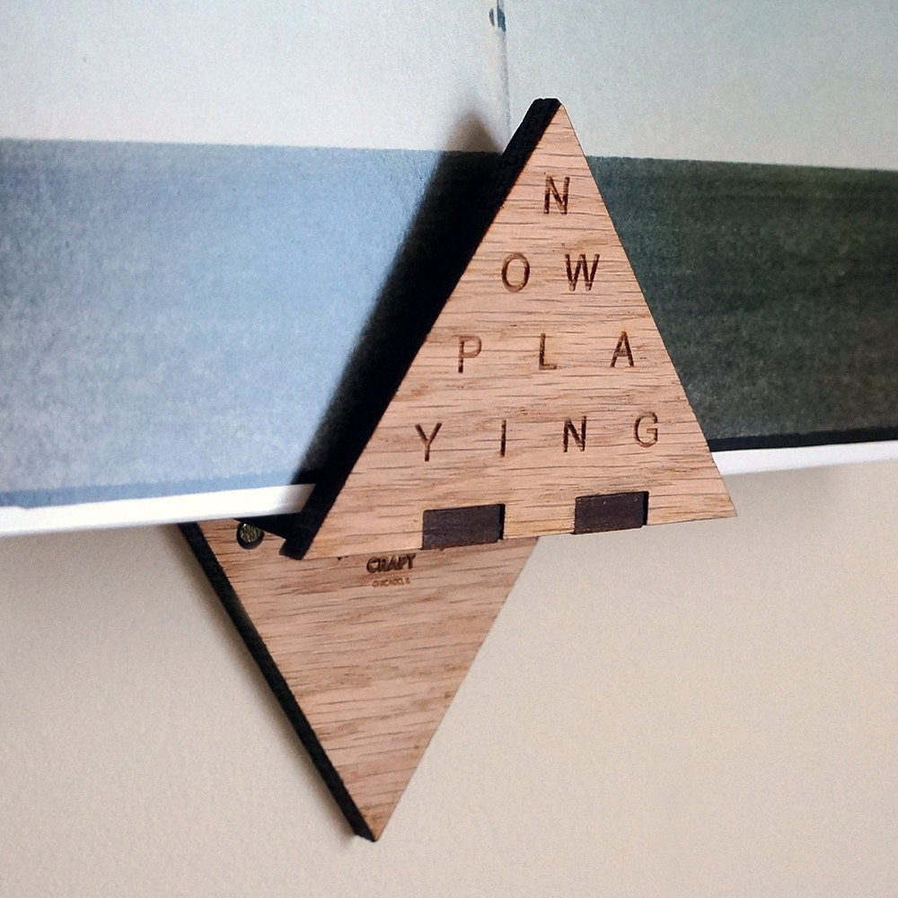 Now Playing Modern Triangle Record Display Wall Hanging Shelf