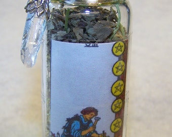 Tarot Charm Bottle for Business Success