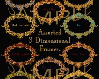 Ornate Clipart Frames, Clip Art Frames, Victorian Frames, Borders, Digital Picture Frames, Scrapbook Frames, Fancy Borders, Text Boxes