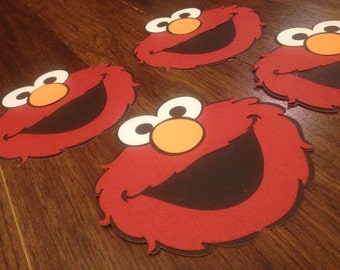 Elmo inspired invitations