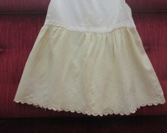 Humble Little Child/Toddler Slip/Ivory Cotton and Flannel/Early 20th Century  # 15036 L2