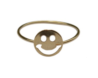 ALL SMILES ring in brass
