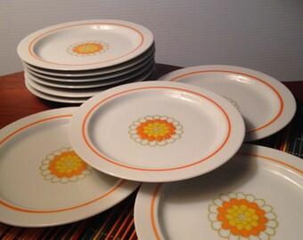 "10 Georges Briard ""Florette"" small dessert plates"