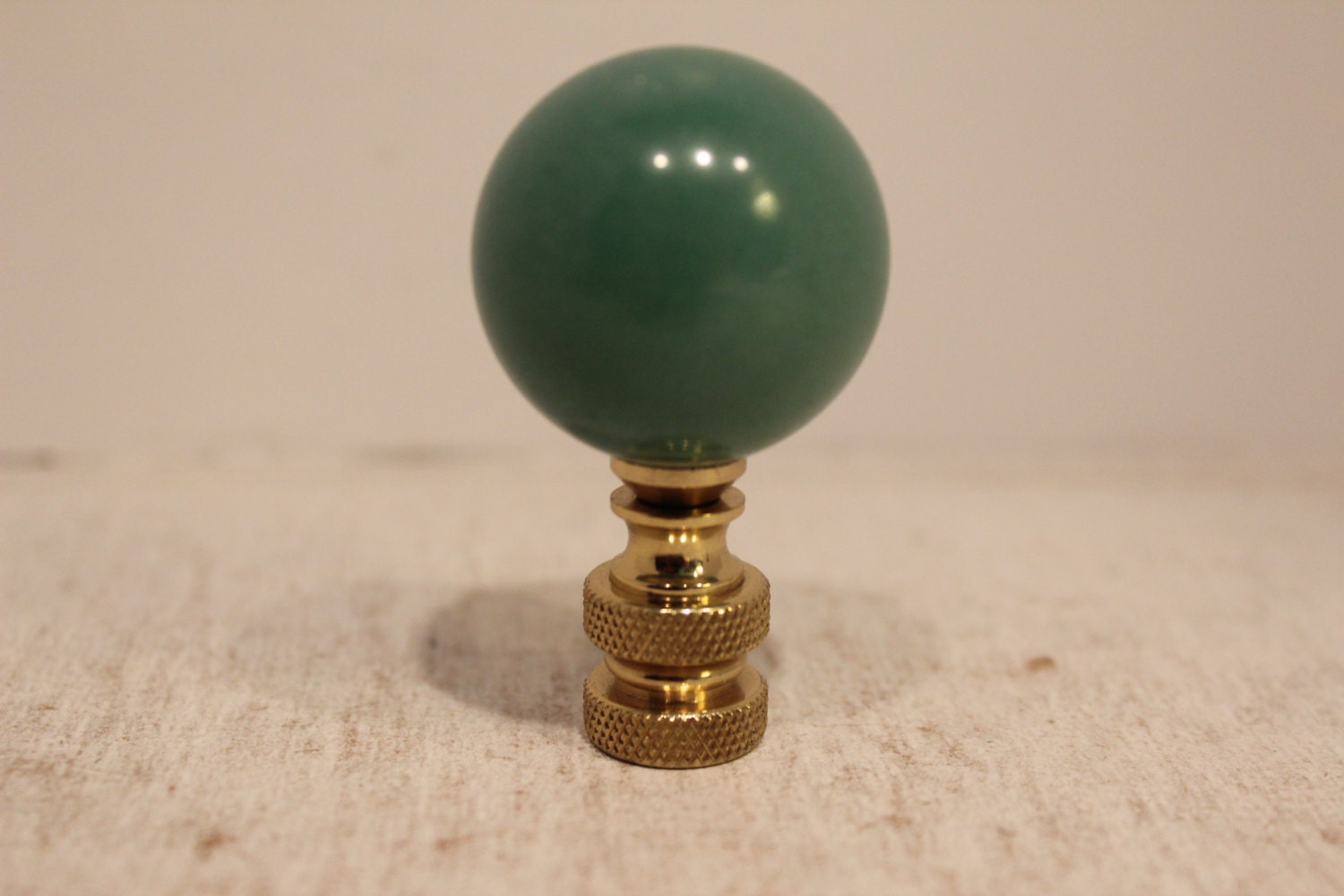 Green Marble Ball : Beautiful green marble ball lamp finial by